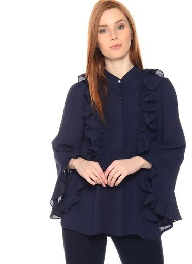 Sister Jane Sister Jane Fırfır Detaylı Bluz Lacivert